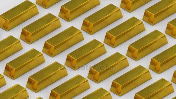 Zlaté slitky zlata bar pokladny bohatství luxusní financování zboží obchodování. opakování