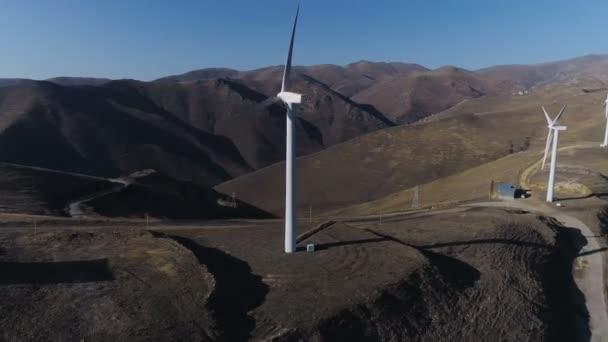 Větrné energie technologie letecké dron pohled na větrnou energii