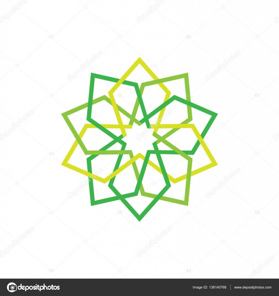Icono de eco. Verde símbolo abstracto. Ilustración de vectores ...