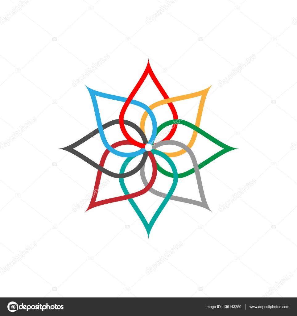 Símbolo de abstracto colorido icono eco. Ilustración de vectores ...