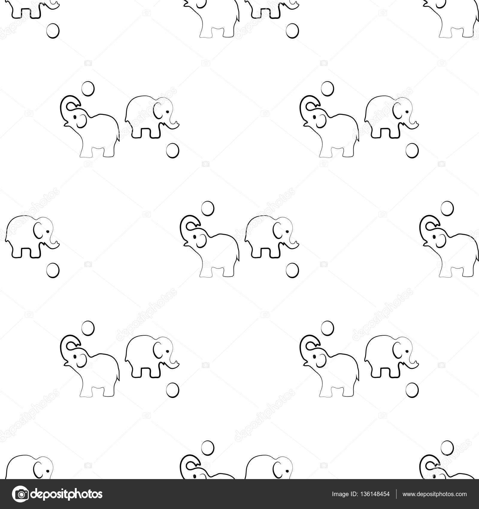 elefante sem costura teste padrão geométrico. Gráfico de moda ...