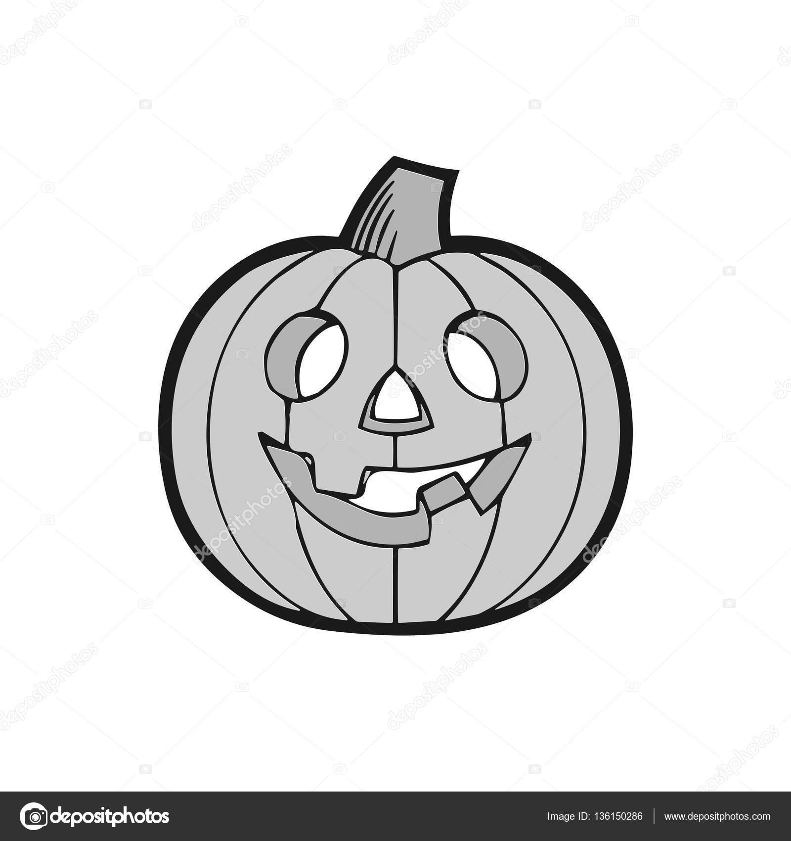Halloween decoration Jack-o-Lantern silhouette. Pumpkin design with ...