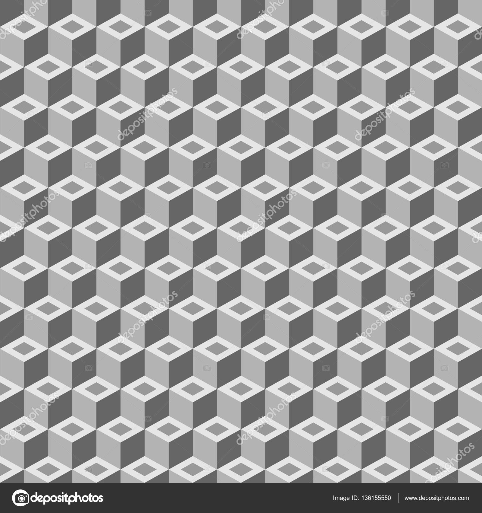 geometrischen Würfels Musterdesign. Mode-Grafik-Design. Vektor ...