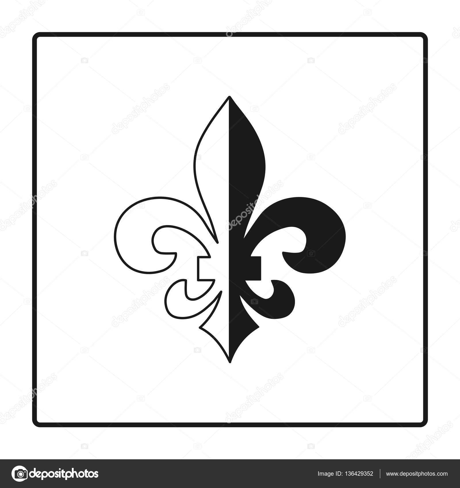 De lis symbol silhouette heraldic symbol vector illustration fleur de lis symbol silhouette heraldic symbol vector illustration medieval sign glowing french fleur de lis royal biocorpaavc
