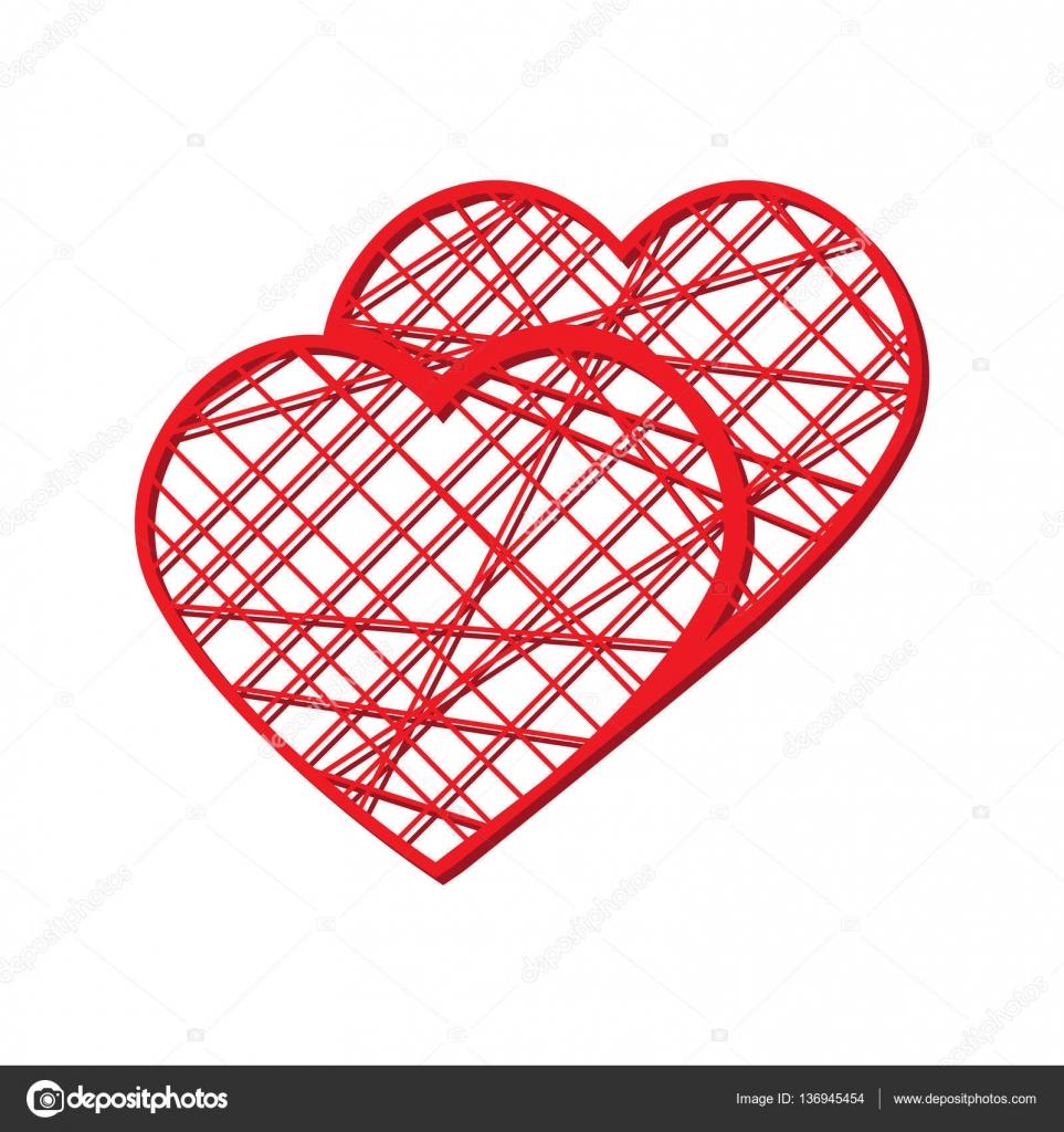 Corazón de vector abstracto. Elemento para el marco. Ilustración de ...