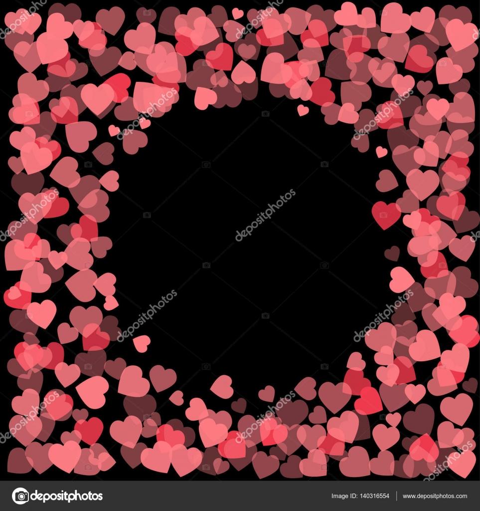 Resumen corazones de San Valentín. Fondo de marco para su diseño ...