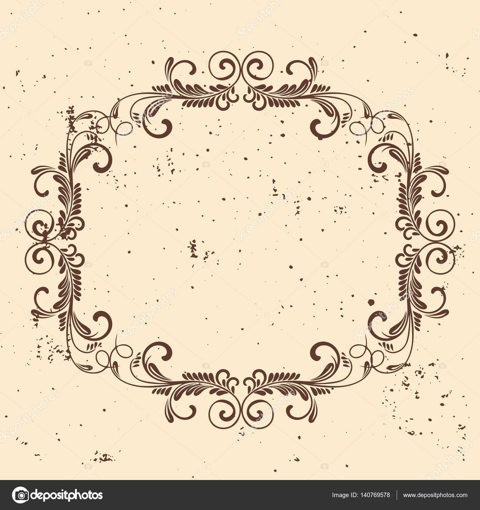 Vintage frame circular baroque pattern round floral ornament vintage frame circular baroque pattern round floral ornamenteeting card wedding invitation retro style vector logo template labels and badges stopboris Choice Image