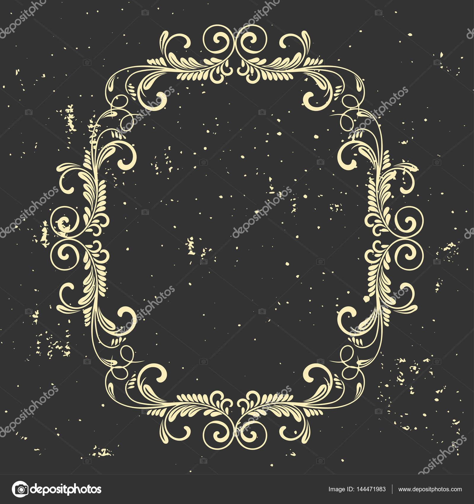 b2d2fb9754 Körkörös barokk mintás. Kerek virág dísz. Üdvözlőlap. Esküvői meghívó.  Retro stílusú. Vektor logo sablon, címkék és jelvények — Vektorok ...