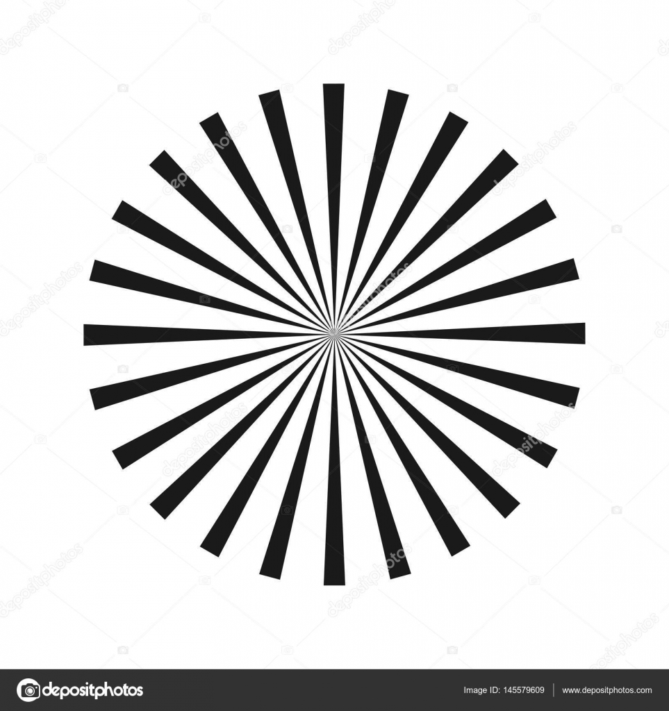Radial Abstract Image. Vector Illustration. Geometric optical ...