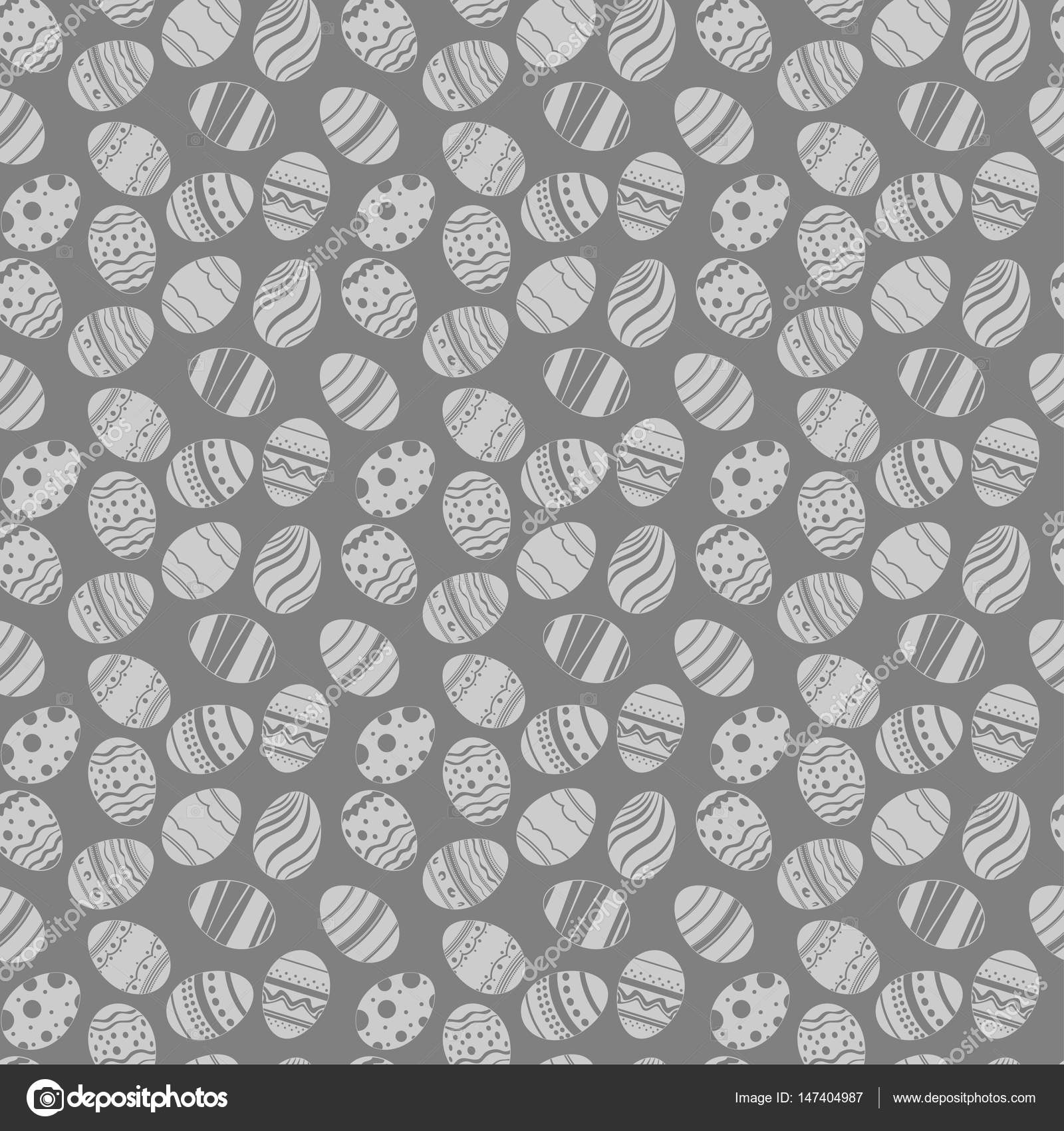 Easter eggs ornaments seamless pattern easter holiday grauy and easter eggs ornaments seamless pattern easter holiday grauy and white background for printing on fabric paper for scrapbooking gift wrap and wallpapers negle Images