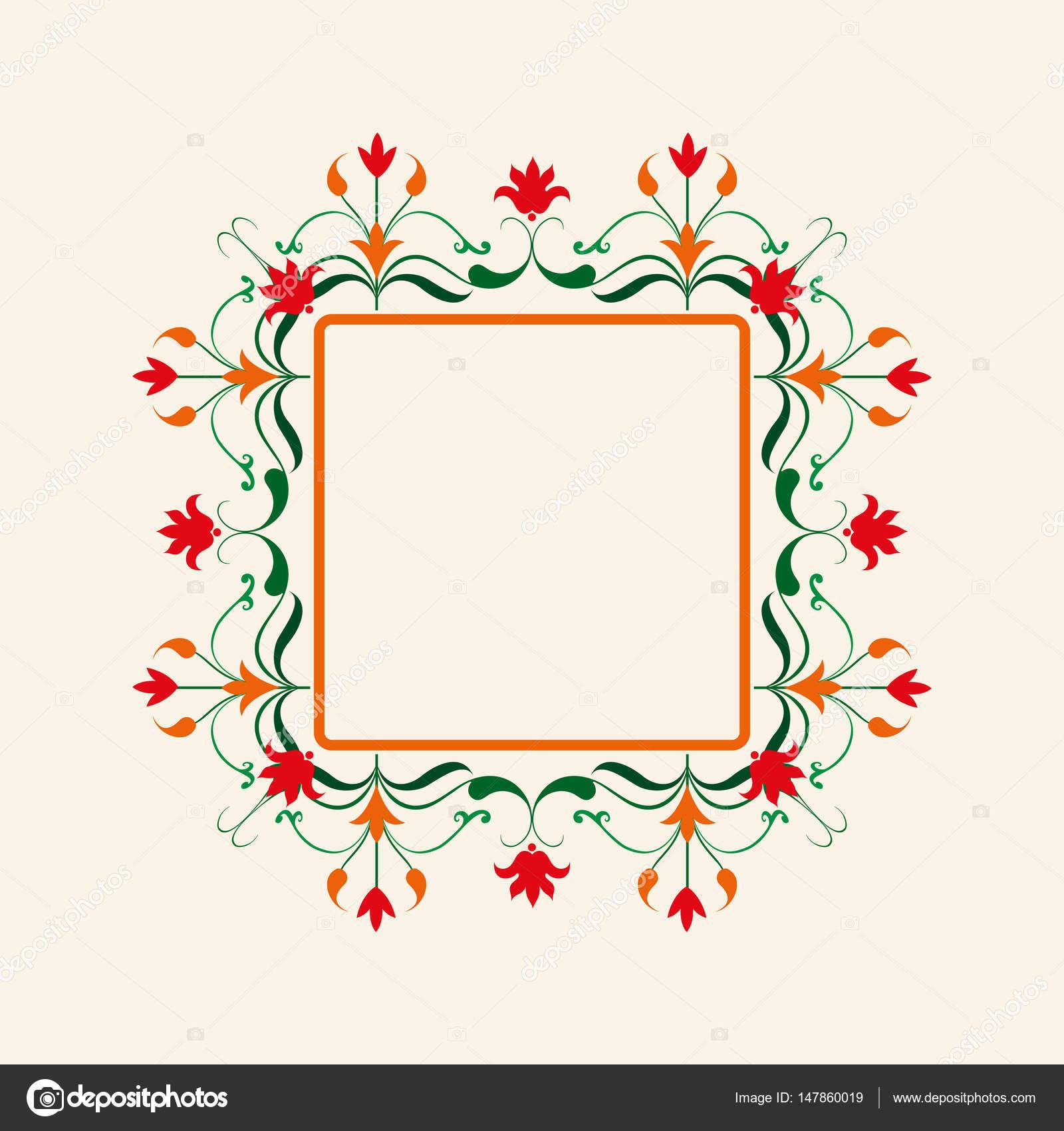 Super Borda floral. Moldura decorativa de vetor. Elegante elemento de  QJ38