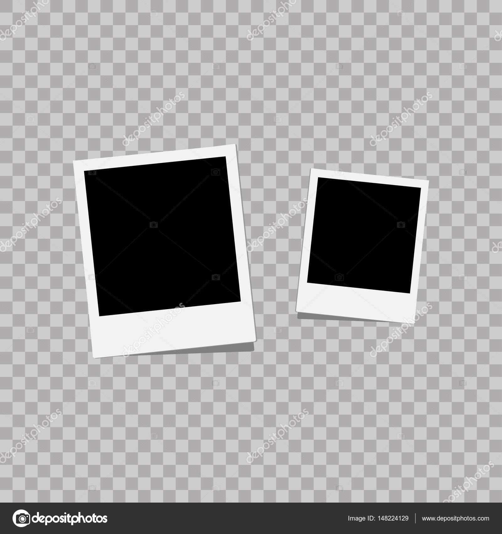 Fotorahmen. Weiße Kunststoff-Grenze auf einem transparenten ...