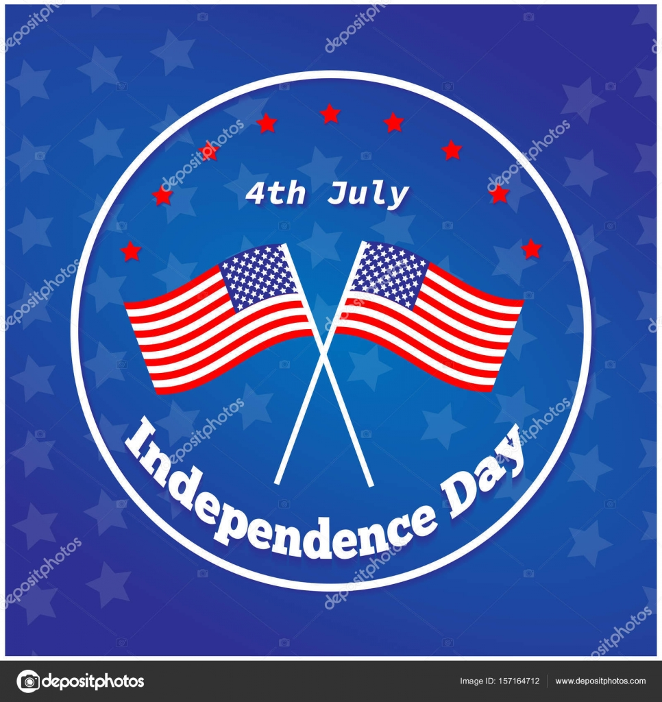 American Independence Day 4 Th July Greeting Card Design National