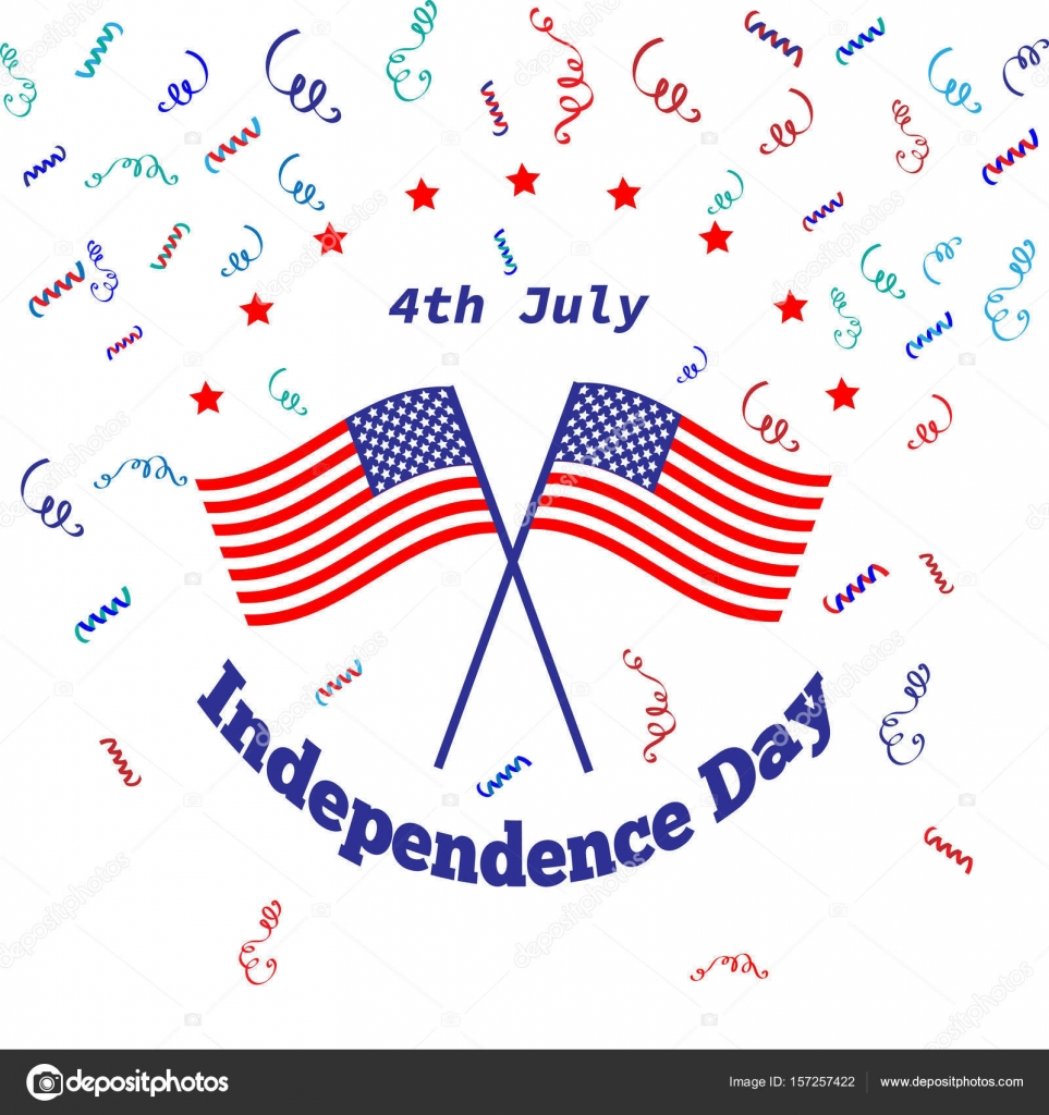 American independence day 4 th july greeting card design national american independence day 4 th july greeting card design national flag vector illustration patriotic symbol holiday poster m4hsunfo