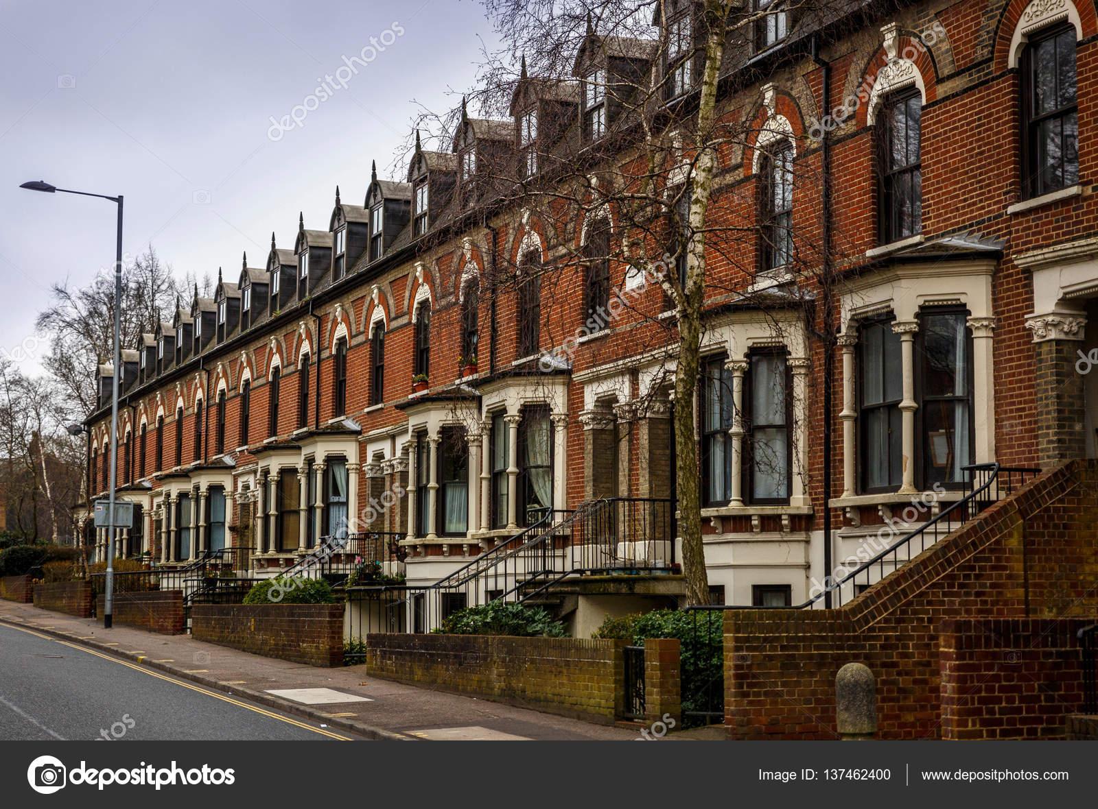 Una piccola vista di case inglesi foto stock oscar for Case inglesi foto