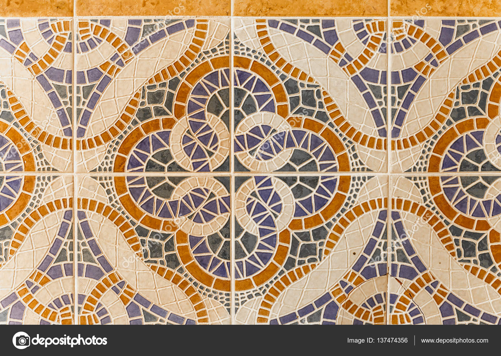 Sfondo di diversi rettangoli formata da piastrelle u foto stock