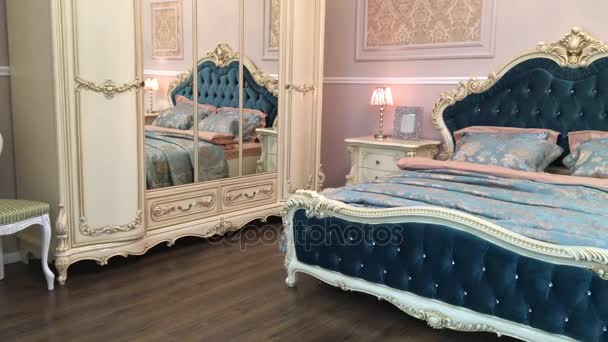 Bedroom decor is beautiful and expensive