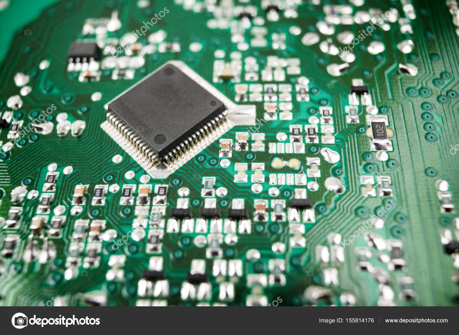 Integrated Circuit View Stock Photo Pedro2009 155814176 What Is Chip Close Up On A By