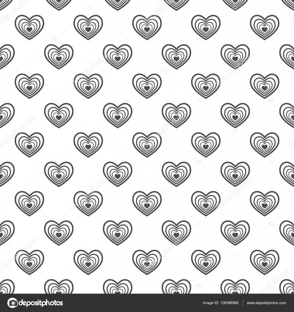 Nahtlose Muster Der Herzen Zusammenfassung Hintergrund