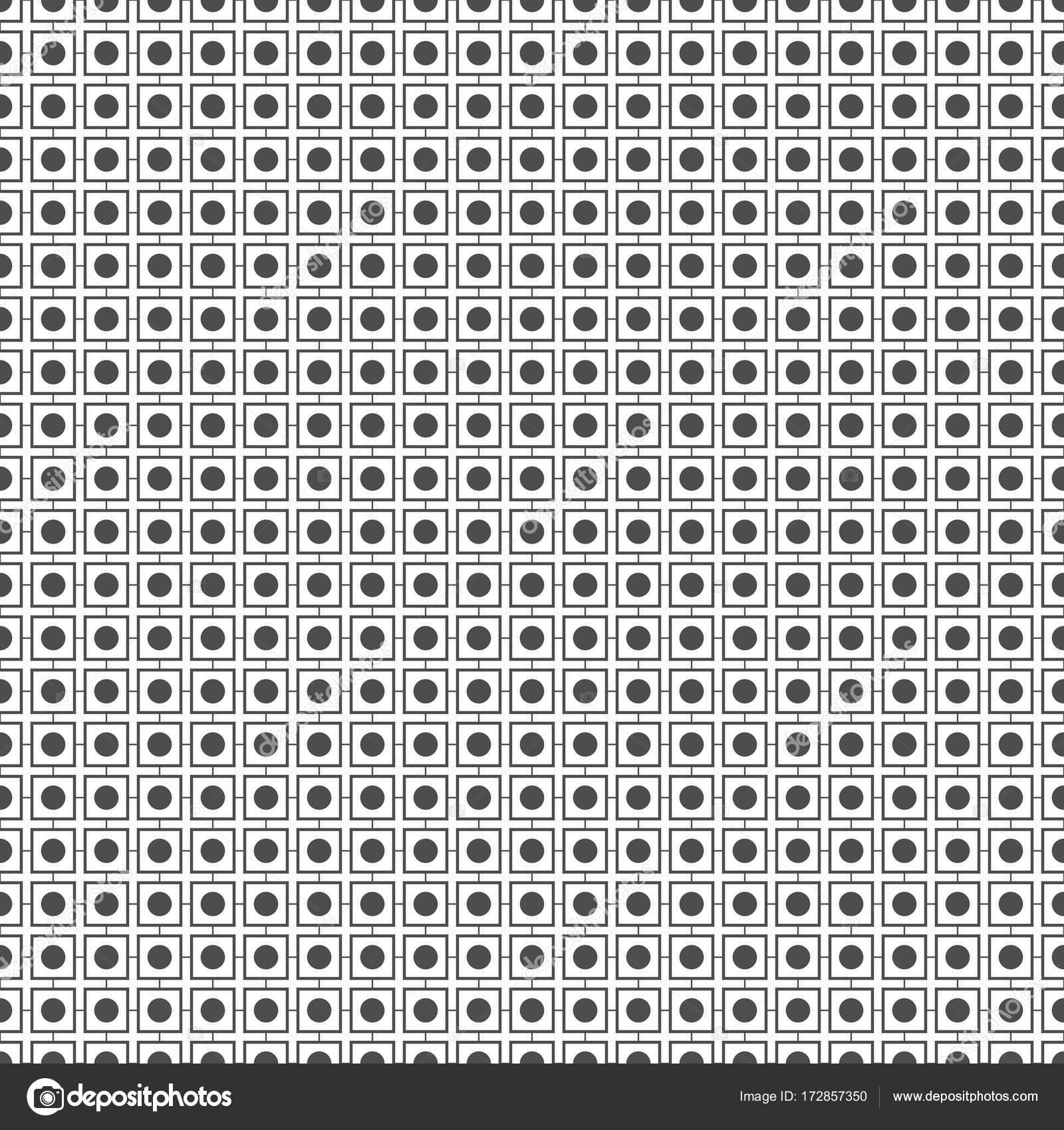 Sin fisuras patrón de puntos y cuadrados. Fondo geométrico — Vector ...