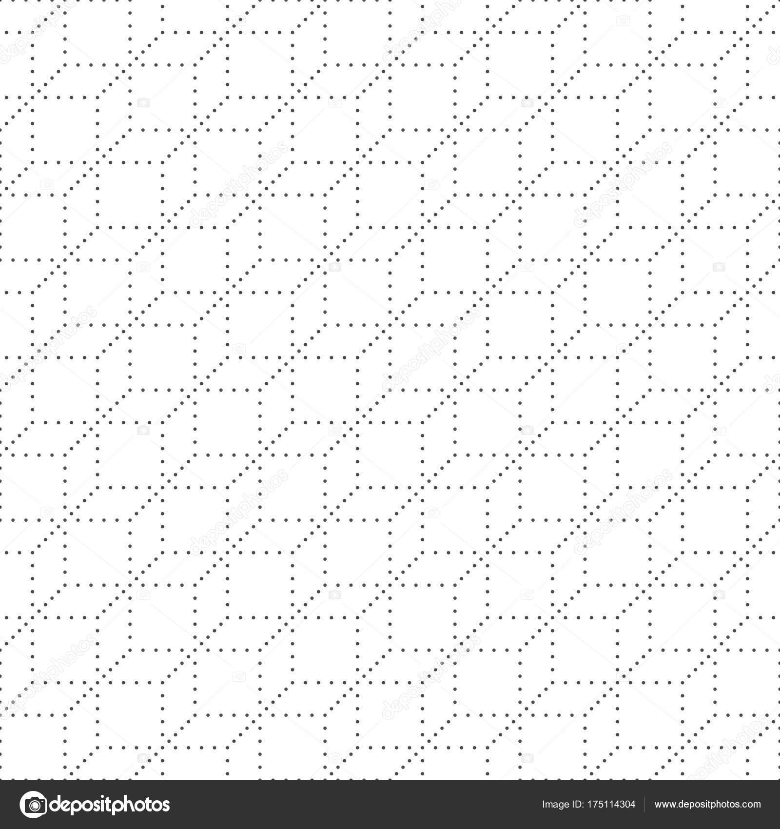 Sin fisuras patrón de puntos y cuadrados. Fondo de puntos geométrico ...