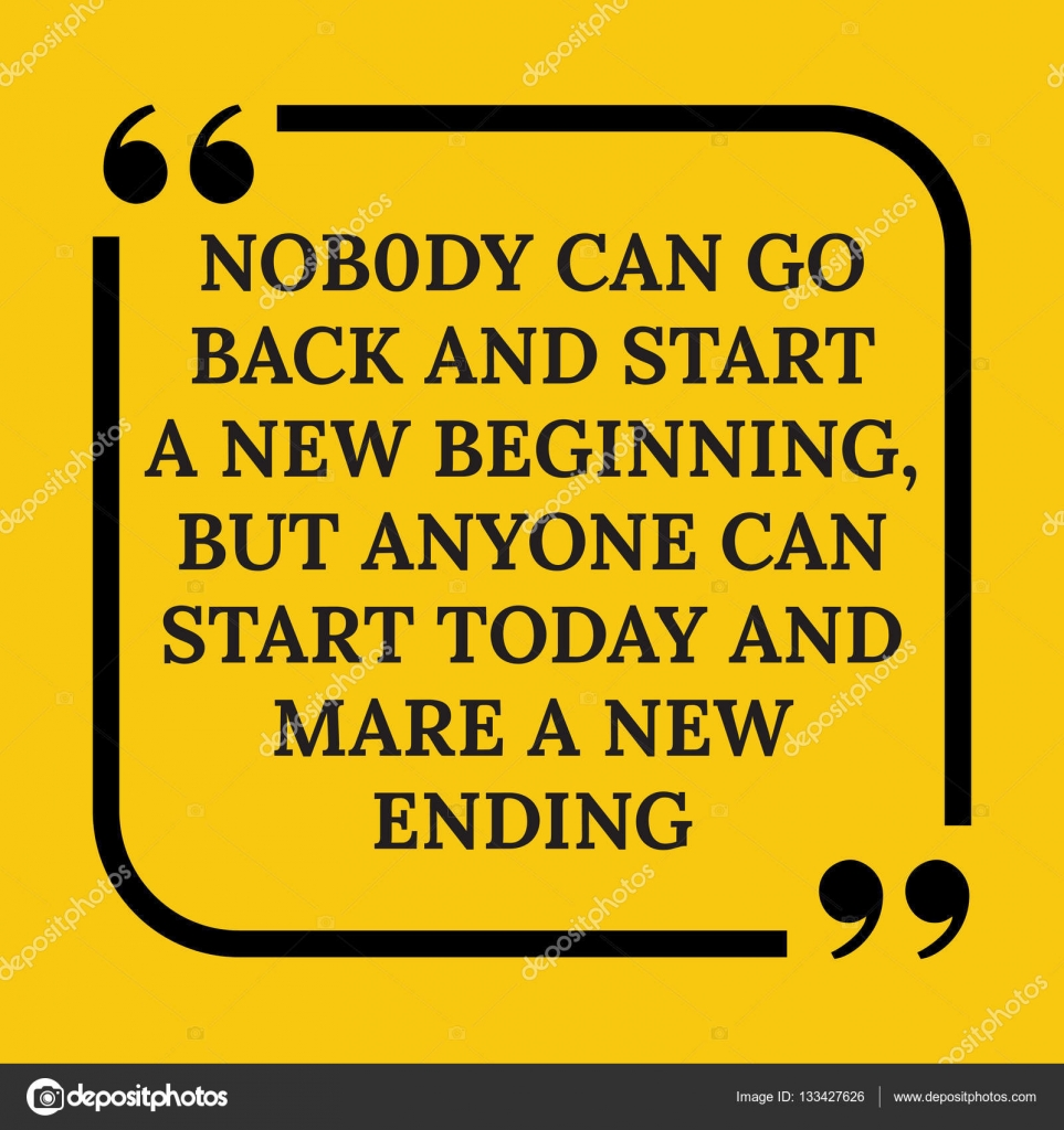Frase Di Incoraggiamento Nessuno Può Tornare Indietro E Iniziare Un