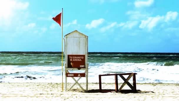 Rudá vlajka v moři