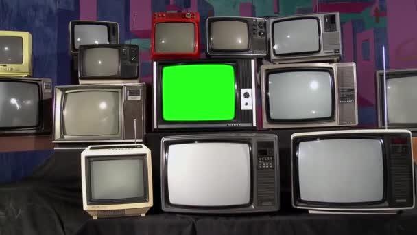 Régi zöld képernyős Tv