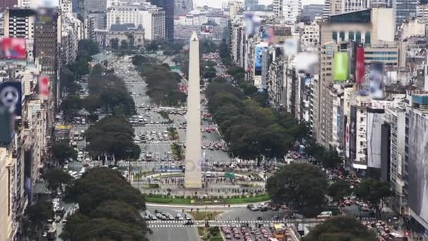 9 de Julio, the Widest Avenue in the World. Buenos Aires, Argentina