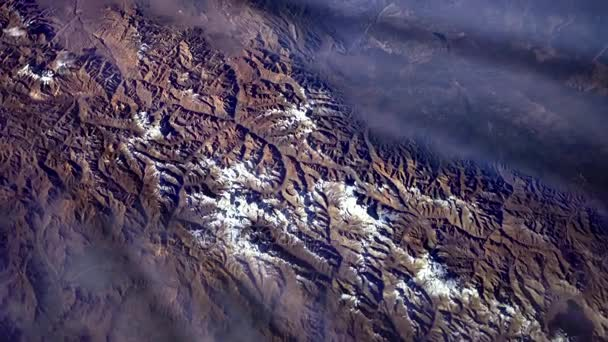 Cordillera de los Andes (Argentina) from Space. Elements of this image furnished by NASA.