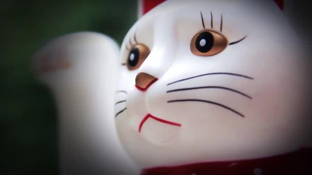 Kočka štěstí close-up.