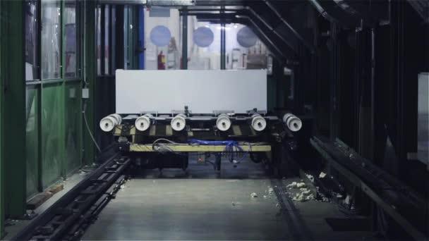Conveyor Belt. Assembly Line in Fridge Factory
