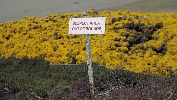 Mine antiuomo Falklands sospettano Area
