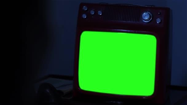 Régi TV greenscreen. 80-as években lövés