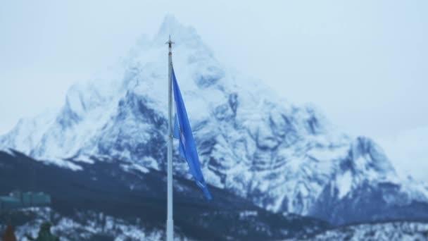 Argentina Flag In Ushuaia, Argentina.