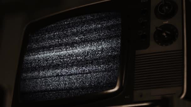 Retro TV Zöld képernyő. Szepia Tone.