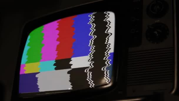 Régi retro TV színes rácsokkal. Sepia Tone vagyok. Közelíts rá!.