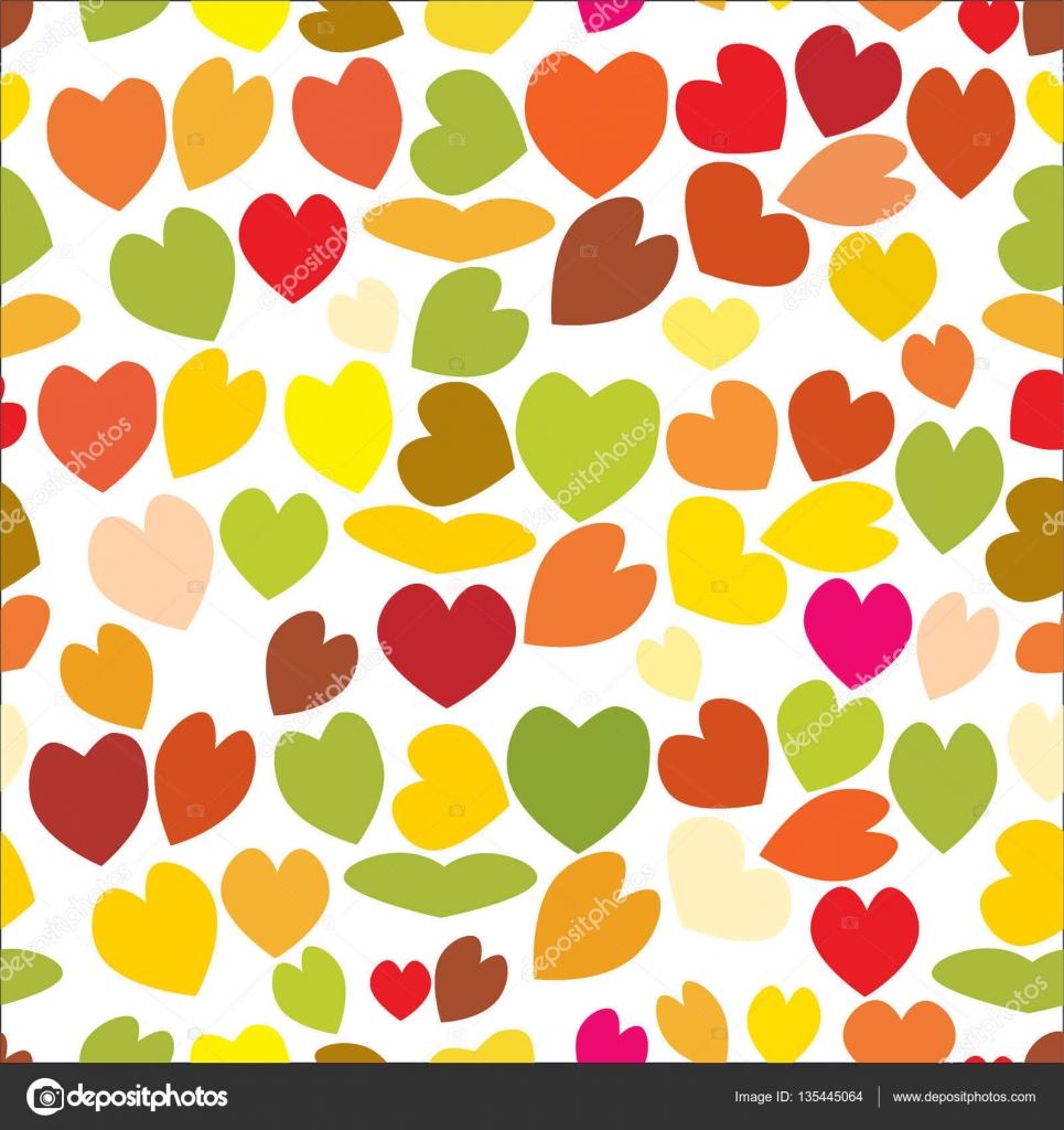 Dibujos Corazones De Colores Bonitos Patron Transparente De