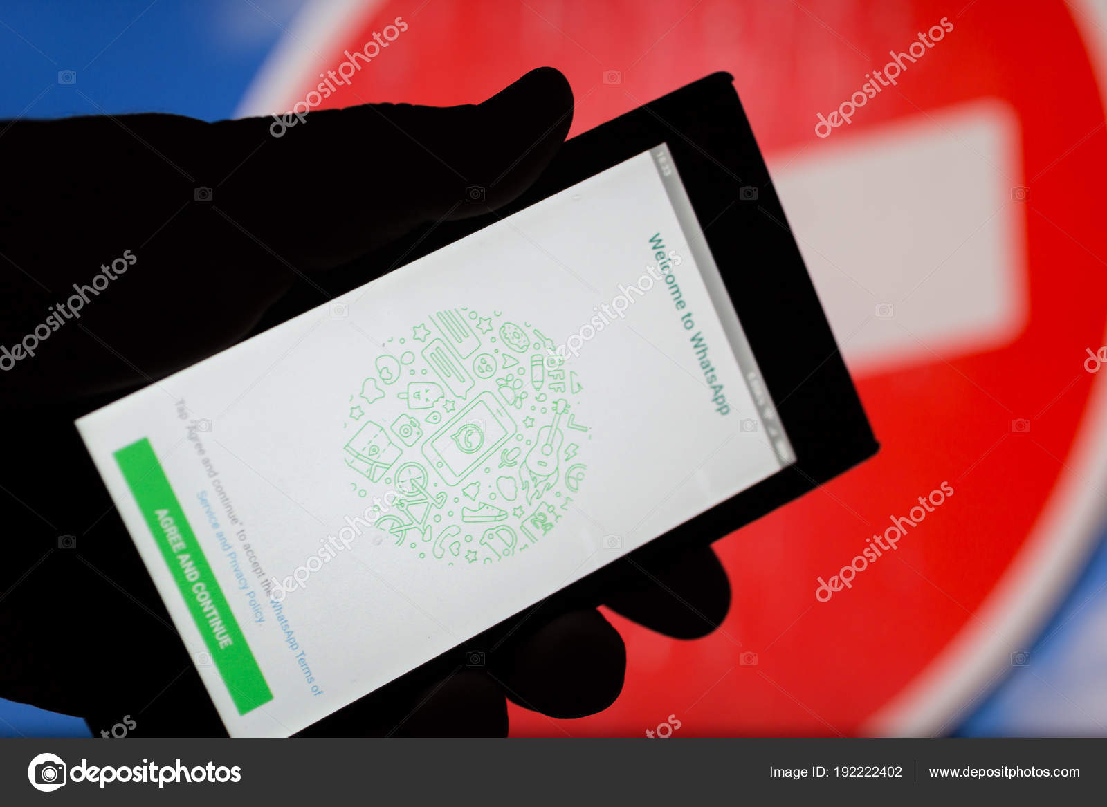 MOSCOW, RUSSIA - APRIL 16, 2018: Mobile phone with Whatsapp