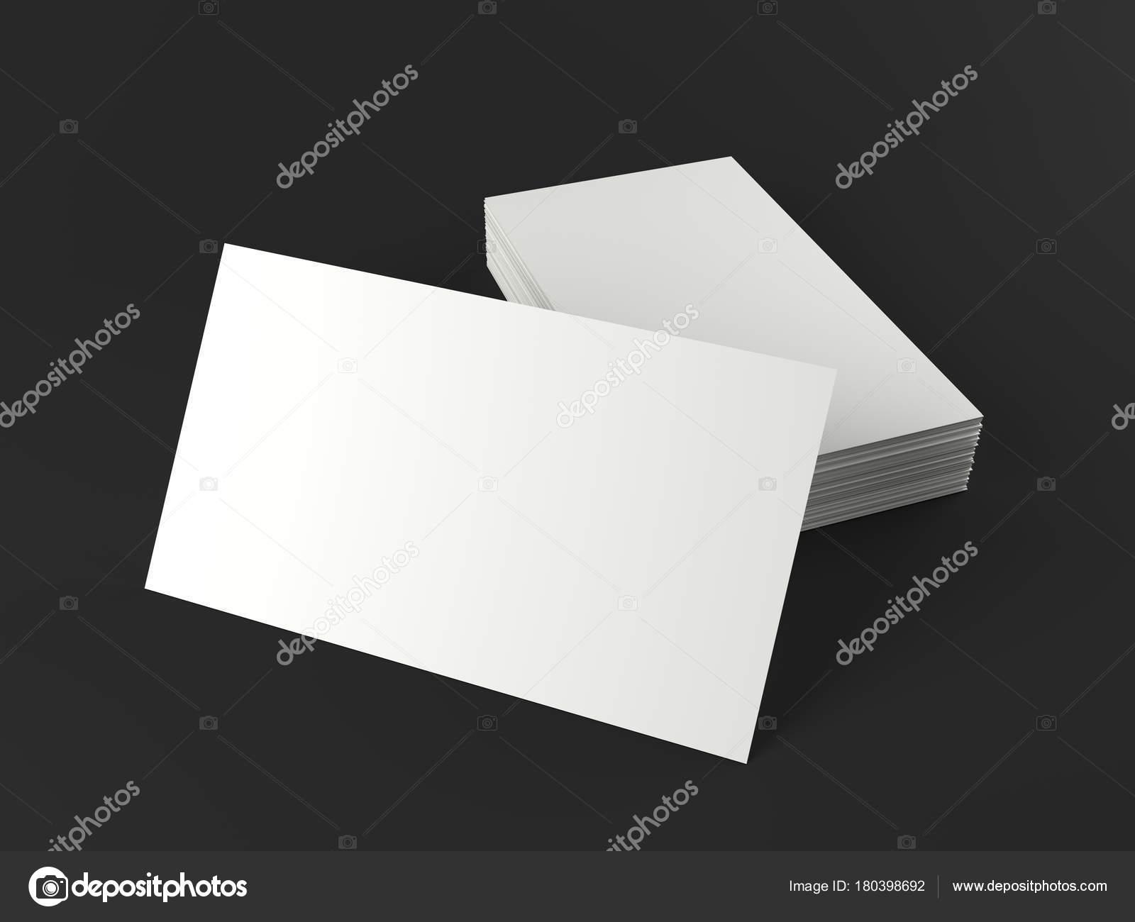 Carte De Visite Vide Blanc Sur Un Bureau Modele 3d Render Haute Resolution Images Stock Libres Droits
