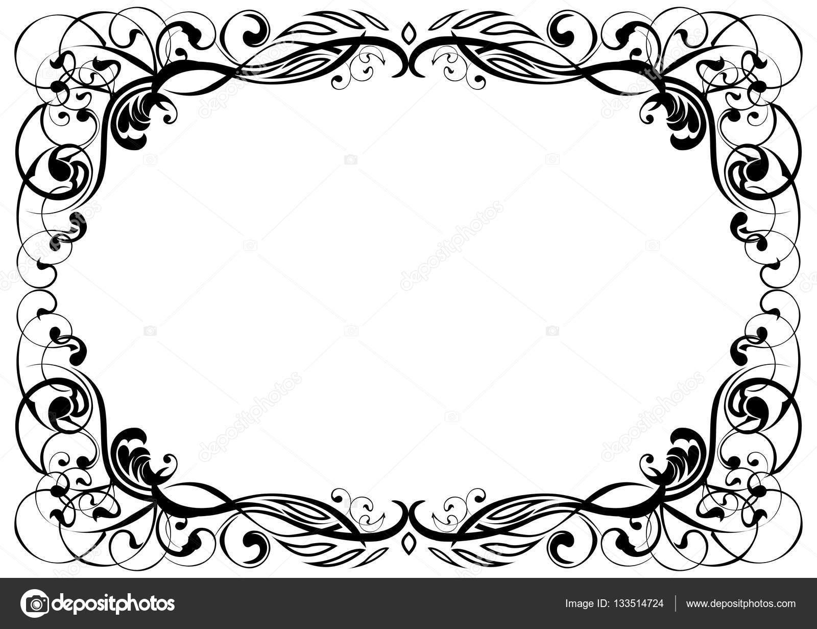 Ornament Rahmen schwarz — Stockvektor © milkal #133514724