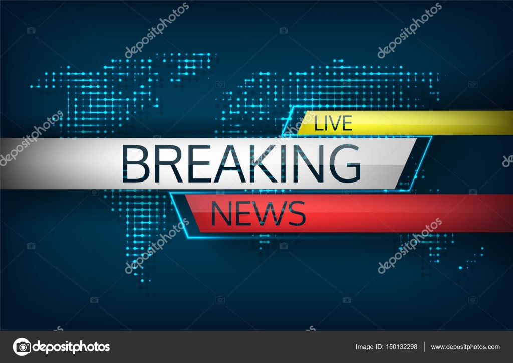 Breaking News Live On World Map Background Isolated Vector Illustration Emergency Latest Communication Technology Including Direct Dissemination Of