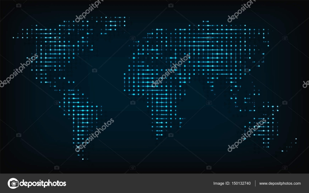 World map isolated from night lights abstract vector illustration world map isolated from night lights abstract vector illustration stock vector gumiabroncs Choice Image