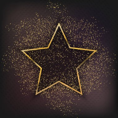Walk of Fame Star isolated Vector Illustration. Hollywood actor award for achievement