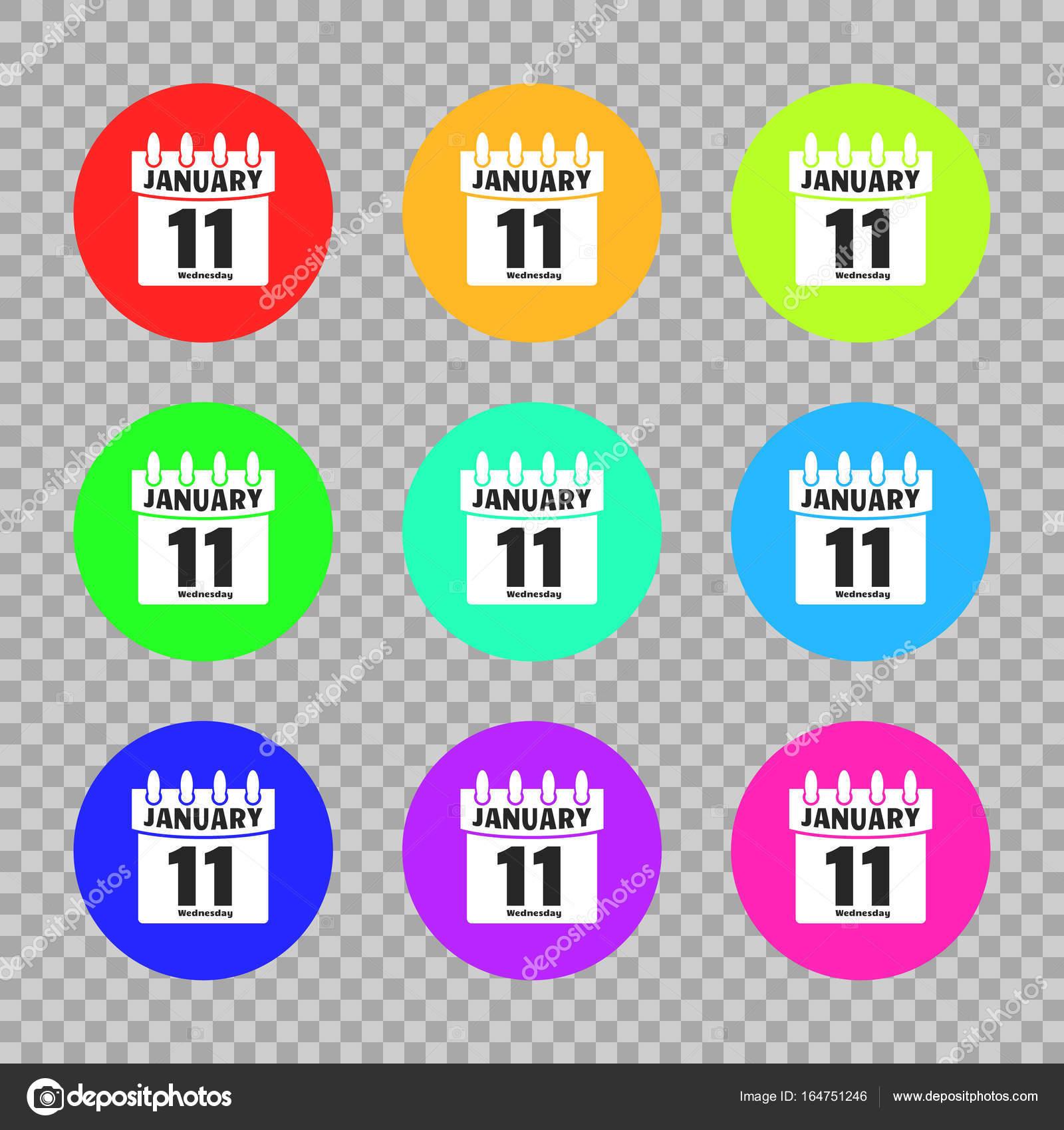 Calendario Per Sito Web.Set Calendario Icona Vettoriale Isolato Su Sfondo