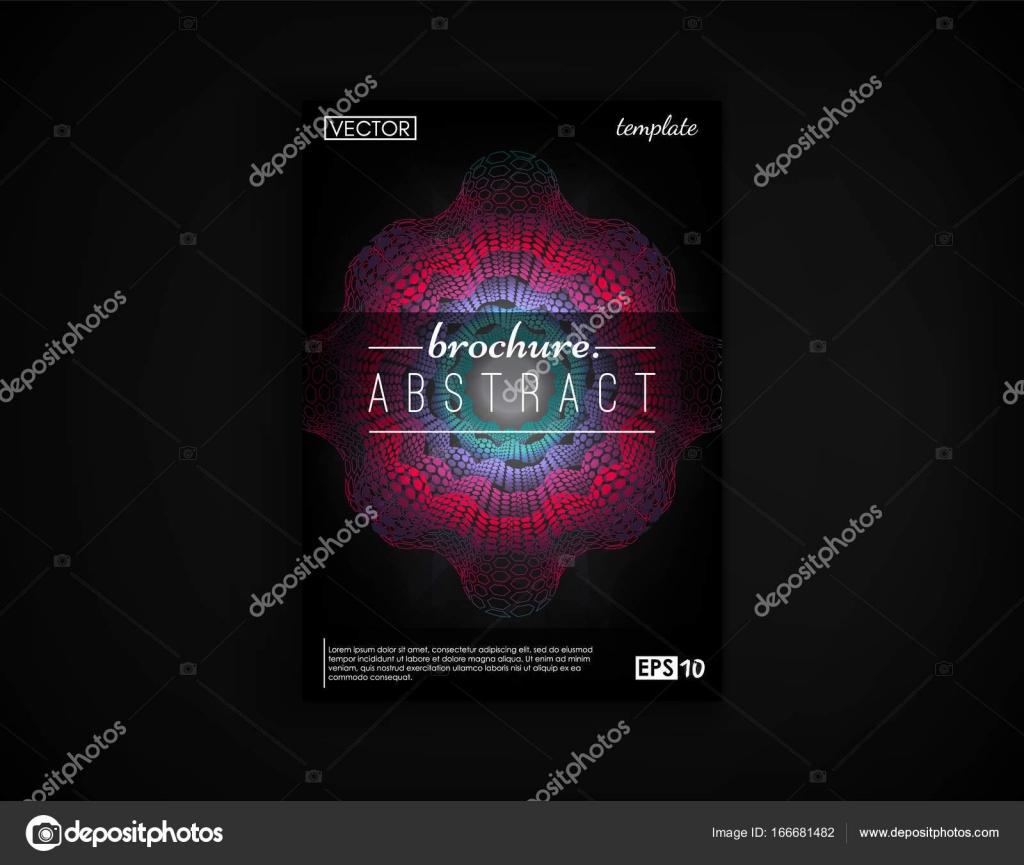 Brochure De La Couverture Conception Carte Postale Isole 2D Fond Futuriste Affiche Flyer Visite Et Autres Vos Projets