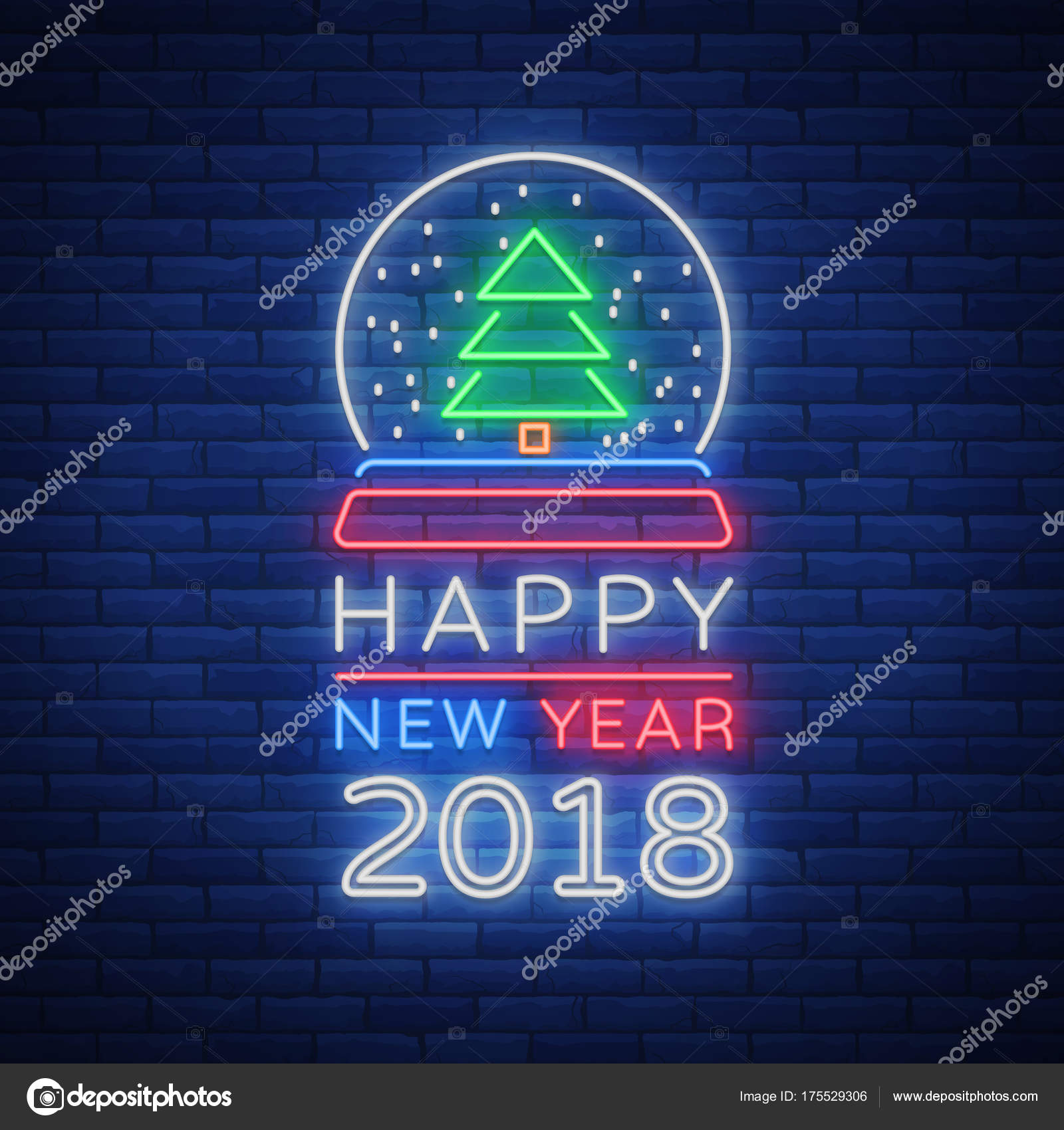 Happy new year 2018 is a neon sign neon symbol for your new years happy new year 2018 is a neon sign neon symbol for your new years projects greetings cards flyers banners bright festive signboard luminous m4hsunfo