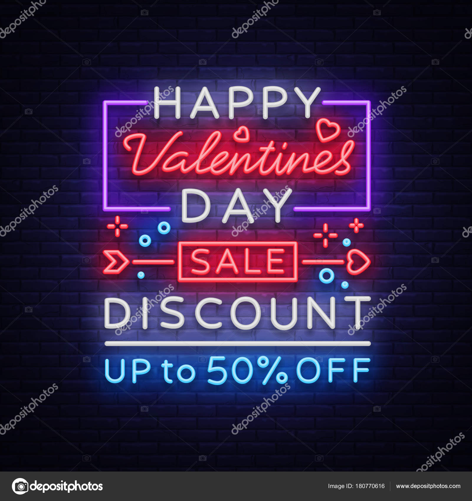 valentines day is a proposal a neon style banner template neon sign poster