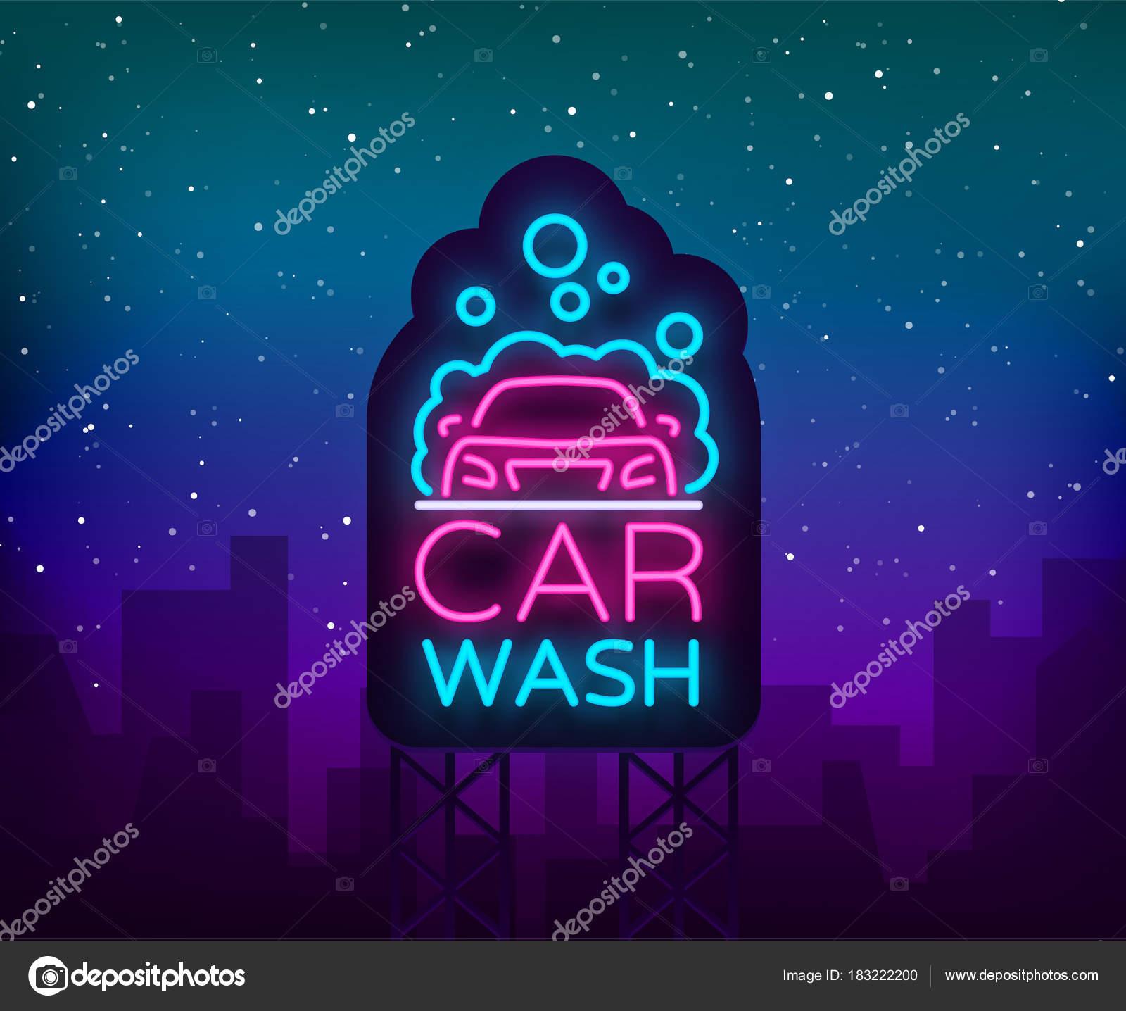 Logotipo de lavado de coches vectoriales diseño en ilustración de ...