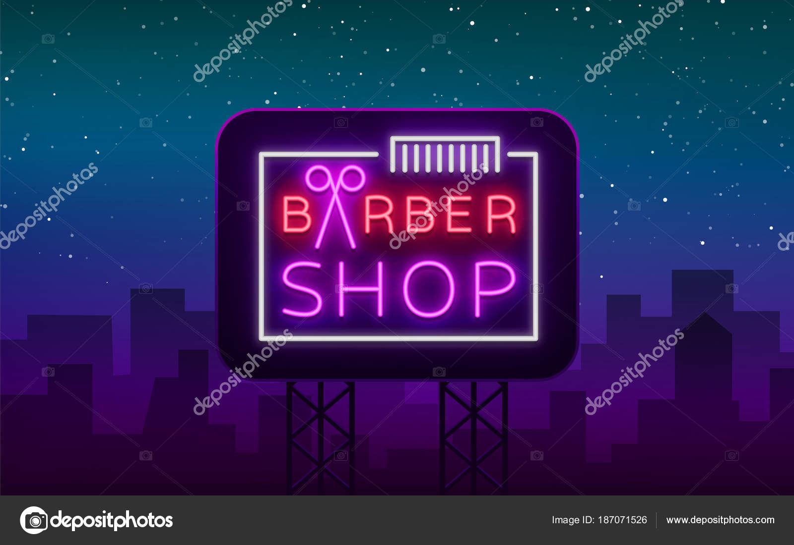 Segno al neon del negozio logo elementi di disegno di marchio del